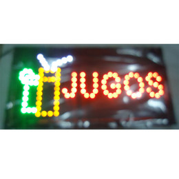 2016 direct selling led display 10*19 inch Semi-outdoor Ultra Bright flashing JUGOS store sign of led Wholesale