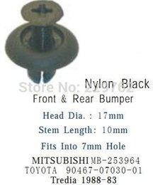 Wholesale clip memo Front amp Rear Bumper Retainer Clip Replace MB253964 Fit Into mm Hole Pajero Mini Tredia Lancer Evo VIII
