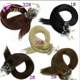 Micro Ring Hair Extensions Brazilian Human Hair Grade 8A Factory Price Within Different Hair Color Straight
