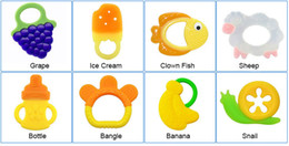 100% Food Grade Silicone Baby Teether Toys Soft Banana Grape Animal Infant Pacifiers BPA Free Large Stocks DHL