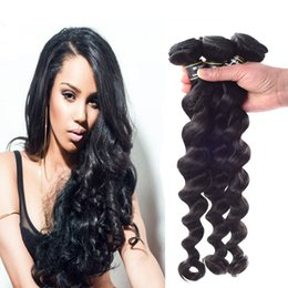 Brazilian Loose Wave 3 PCs lot Hair Extensions Wavy Human Virgin Hair Weft Natural Color Unprocessed Hair Weaving 8-28 inches