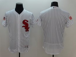 Men's 2016 New Mens Chicago White Sox Blank White Fashion Stars & Stripes Flex Base Jersey High Quality Free Shipping