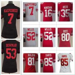 Wholesale Women s Football Jerseys San Francisco Colin Kaepernick Game Patrick Willis er Jerry Rice jerseys ladies shirts girl