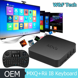 Wholesale MXQ MXG TV BOX RI8 G Fly Air Mouse Keyboard Amlogic S805 MXQ Smart TV Box watching Online Video Play Games