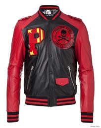 Wholesale Best Price Autumn Winter Germany Brand PP Men s New Design Letter P Big Skull PP Classic Zipper Leather Jacket Coat