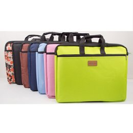 Wholesale high quality business office document handle bag multi layer huge capacity file briefcase x305mm colors option canvas laptop bag