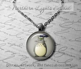 Wholesale My neighbor totoro Japanese animated fantasy film by Studio Ghibli Japanese anime totoro jewelry Satsuki and Mei totoro necklace photo