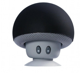 Wholesale 2016 Best Selling Mini Mushroom Bluetooth Speaker with Silicon Suction Cup Cellphone Tablet PC Stand Free in perfect sound quality