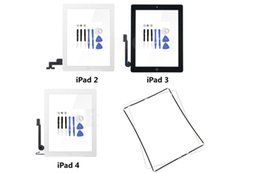 Touch Screen Glass Digitizer Assembly Replacement for Apple iPad 2 iPad 3 iPad 4 touch digitizer with adhesive tape white black By DHL