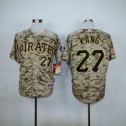 Wholesale Pittsburgh Pirates Cool Base Mens Jerseys Jung Ho Kang Camo Baseball Jersey Accept Mixed Orders Best Quality Size M XXXL