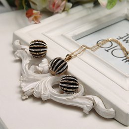 Wholesale Girl jewelry wholesalers Allergy care set auger earrings necklace jewelry jewelry latest European and American style suit manufacturers sell