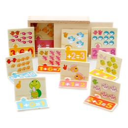 juguetes para bebs animal operacin digital pareja bloques juguete de madera nio educativo matemticas juguete regalo de cumpleaos infantil bloques