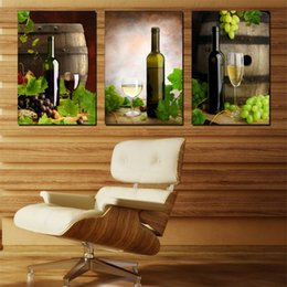 Wholesale Wall decoration Unframed Pieces Canvas Prints Cask Wine Glass Grape Hot Air Balloon Palm tree grassland Perfume Wind power generator