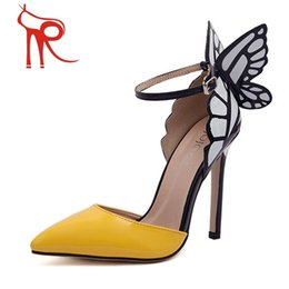 Wholesale Europe and the United States Sophia Vampire Diaries actress dream butterfly wings high heeled pointed shoes dress personality ladies shoes
