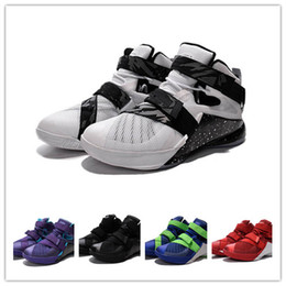 Wholesale 2016 lb Soldier white and black Men Basketball sports Shoes JAMES soldier ix Eur