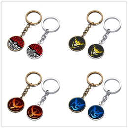 Wholesale Poke go Halder Keychain Pikachu Key Chains Rings Cartoon Anime Keychains key chain Keyring Keyrings Accessories kids toys Christmas Gifts