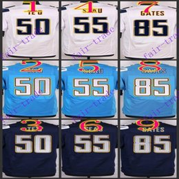 Wholesale NIK Elite Football Stitched Chargers TE O Seau Antonio Gates Light Blue White Dark Blue Jerseys Mix Order