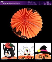Compra Online Latas de papel-2016 Linternas de Halloween linternas de calabaza calabaza jack estéreo fantasma linterna de papel se pueden colgar linternas de brujas