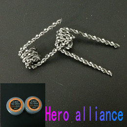 Hero Alliance Coils Prebuilt Coil 0.55ohm 0.36ohm Heating Wires Heating CoilsPremade Wrap Wires Prebuilt Resistance for RDA Vaping