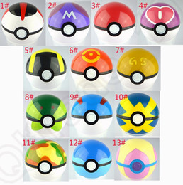 Wholesale Poke Ball Anime Toys Cartoon Pocket Monsters ABS Action Figures pikachu Ball Cosplay Pop up colors OOA315