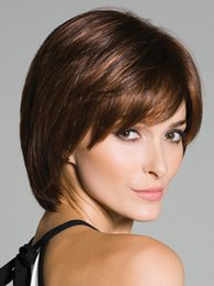 New Arrive free shipping Synthetic Brown BOB Hair Natural Wigs Short Wigs for Black Women Free Shipping Women Short Straight Bangs Wigs