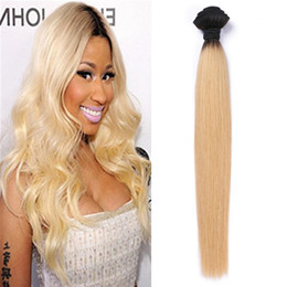 T1B 613 Ombre Color Brazilian Virgin Human Hair Weaves 8A Grade Human Hair Extensions 100g pc Wet and Wavy Hair Free Shipping