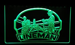 Wholesale LS115 g Lineman Repairs Services Display Neon Light Sign