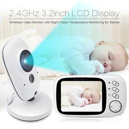 Wholesale Video Baby Monitor Fetal Doppler inch LCD IR Nightvision way talk lullabies Temperature monitor video baby monitor dopler
