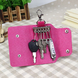 Women Men PU Leather Key Holder Case Wallets Housekeeper For Keys Organizer ger Key Bag Purse For Car Key