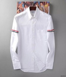 Wholesale Europe new brand men s shirts standing healthy slim men cotton pure color long sleeve shirt printing age season size M XXXL