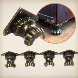 Wholesale 4pcs Antique Brass Jewelry Chest Wood Box Decorative Feet Leg Corner Protector