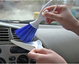 Wholesale Car Air Outlet Vent Dust Cleaning Brush Dustpan Dashboard Keyboard Clean Brush Small multi function cleaning brush