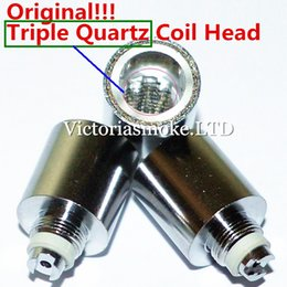 MOQ=100pcs Original Triple Quartz Coil Head With Quartz Bowl For Glass Globe Atomizer Cannons Bowling Atomizer Glass Wax atomizer Coils
