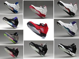 Wholesale Good Quality Air Retro metallic raging bull Oreo V men cheap basketball shoes sneakers red black shoes