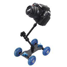 Table Track Roller Slider Dolly Car Skater Rail de rail vidéo pour Speedlite DSLR appareil photo Caméscope Rig à partir de dolly vidéo curseur fabricateur