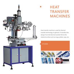 Máquina cepilladora en venta-HT2040 Plano neumático / máquina de transferencia de calor redonda