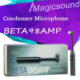 Wholesale Professional BETA98AMP Wired Miniature Drum Electret Condenser Microphone Beta98 AMP Mike Mic Mikrofon microfone microfono