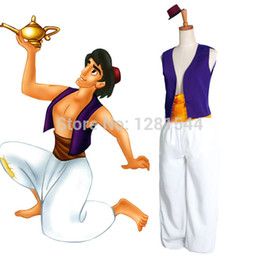 Wholesale Halloween Costumes Custom Made Aladdin Lamp Prince Aladdin Costume Movie Cosplay Costume