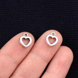 300pcs Tibetan Silver Heart Love Charms Pendants For Jewelry Making 12x10mm