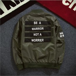 Wholesale Fall New Mens Bomber Jacket Air Force Pilot Jacket Solid Baseball Jacket Army Green Black Z1327