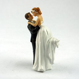 Wholesale Wedding Cake Topper Party Table Decoration Kits True Romance Groom Lifting Bride Porcelain Couple Cake Top In Event Party Supplies
