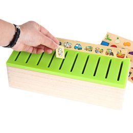 Wholesale 2016 Early Kids Toys Educational Wooden Creature d Puzzles Intelligence Learning Puzzle Brinquedos Knowledge Classification Box