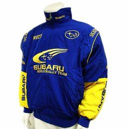Wholesale Fall Black blue subaru MOTO GP motorcycle motorbike biker auto driver winter cotton jackets coat
