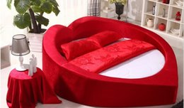 Wholesale Round red bed sexy water bed and vibrator bed sexy fashion bedroom furniture pu sexy bed