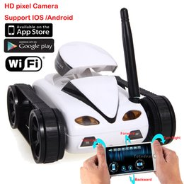 Wholesale Wifi Mini CH RC Tank Car I Spy with Video MP Camera hidden controlled By Iphone Android Robot with Camera