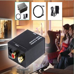 Wholesale Coaxial Spdif or Toslink Optical Digital to Analog L R RCA Audio Converter Adapter Support Channel Stereo Dolby AC3 DTS