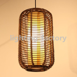 Southeast Asia Handmade Rattan Restaurant Ceiling Pendant Light Lantern Living Room Pendant lamp Restaurant Pendant Lighting
