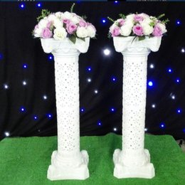 Wholesale Cheap Hollow White Plastic Roman Columns Road Cited Ceremony Wedding Favors Party Decorations Hotels Shopping Malls Opened Welcome Road Lead