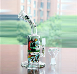 Wholesale 11 Tall Colorful Glass Bongs WIth Bowl arm turbine perc and honeycom Perc percolator Bongs Water Pipes Joint mm Oil Rigs Hookahs
