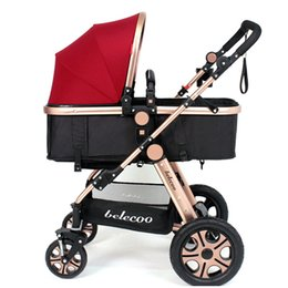 Wholesale Best quality Brand Four wheels folding umbrella car bb Mutifunctional High Scenery baby stroller can be folded